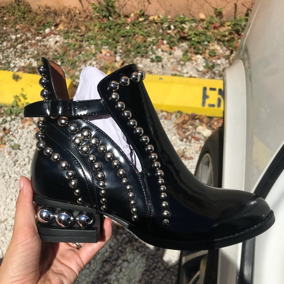 09d7fb991dc Jeffrey Campbell Rylance Bootie. Silver studded.